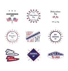 Set of label independence day vector
