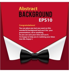 Abstract official paper elements red background vector image
