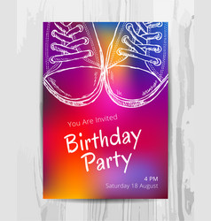 birthday party invitation card teenage party vector image vector image