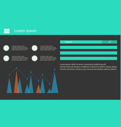 Business infographic data design and graphic vector