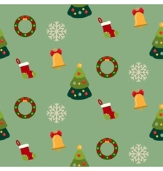 Christmas seamless pattern with new year holidays vector image