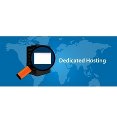 Dedicated server web hosting services vector