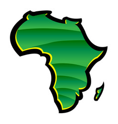 Detailed map of africa continent in black vector