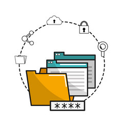 Files banner data connection vector