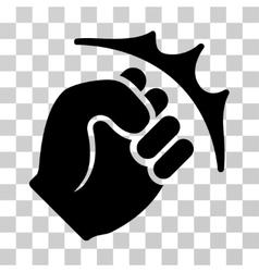 Fist strike icon vector