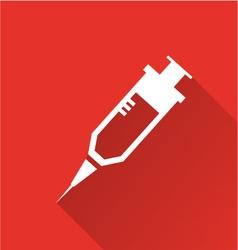 hypodermic needle icon vector image