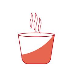 Japanese teacup beverage drink hot shadow vector