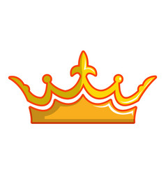 milady crown icon cartoon style vector image