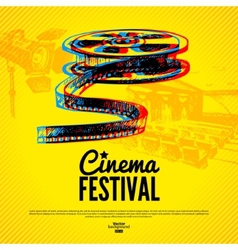 Movie cinema festival poster background vector
