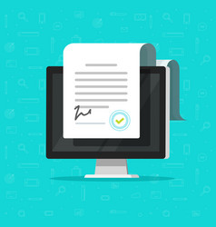 Online electronic documents on computer display vector