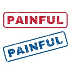 Painful rubber stamps vector