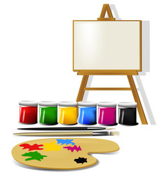 Painting accessories vector image