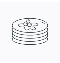 Pancakes icon american breakfast sign vector