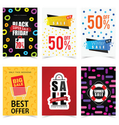 poster of sale in color set graphic vector image vector image