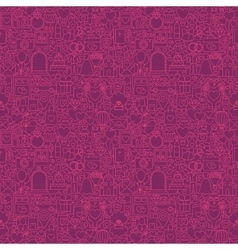Purple line wedding seamless pattern vector