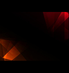 Red crystal abstract dark background vector