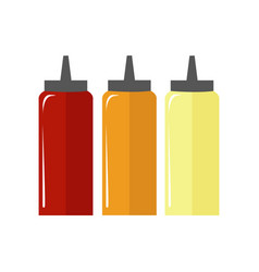 sauce bottle simple flat vector image