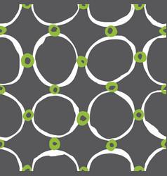 sketchy circles seamless pattern vector image vector image