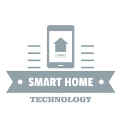 smart technology logo simple gray style vector image vector image