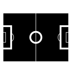 Soccer field the black color icon vector