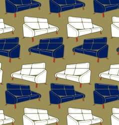 sofa background vector image vector image
