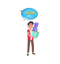special offer sale advertisement in speech bubble vector image