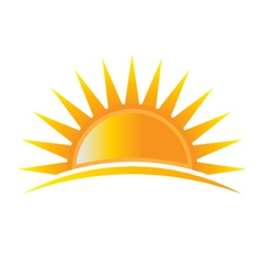 Sun rise logo vector image vector image