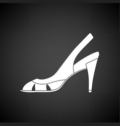 Woman heeled sandal icon vector