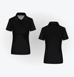 Women polo shirt vector