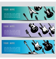 Guitar banners vector