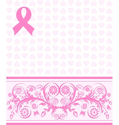 pink ribbon background vector image
