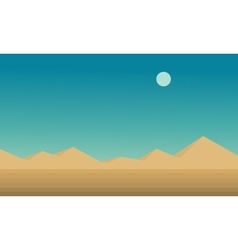 Landscape hill and desert flat vector