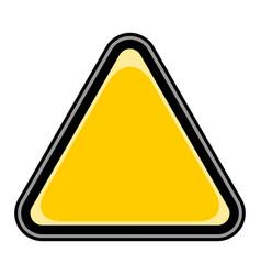 Blank sign triangular sticker vector
