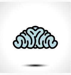 abstract brain logo vector image