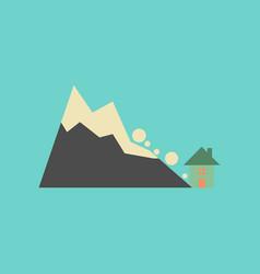 flat icon on stylish background house avalanche vector image