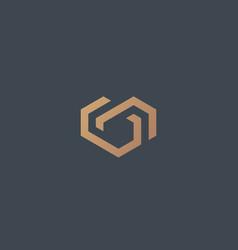 Geometric heart logotype love home logo vector