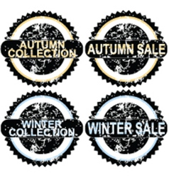 Autumn rubber stamps vector