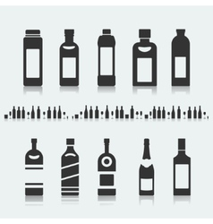Set of symbols bottle alcohol vector