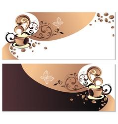 a coffee cup vector vector image