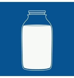 Milk or juice bottle vector