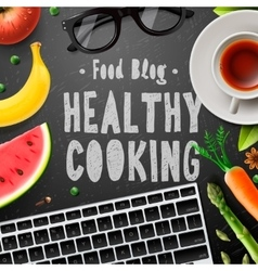 Creative cooking food blog healthy cooking vector