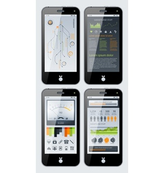 smartphone infographics vector image