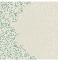Vintage ornamental lace invitation on the seamless vector