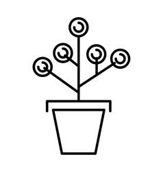 Money tree concept with room for text  or copy vector