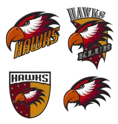 Professional sports logo hawks vector