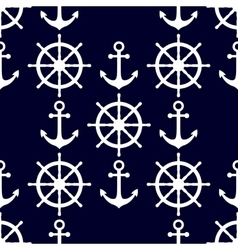 Marine background in navy blue and white colors vector