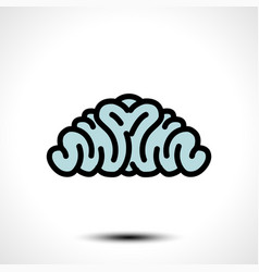 Abstract brain logo vector