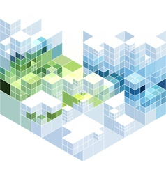 abstract cubic background vector image