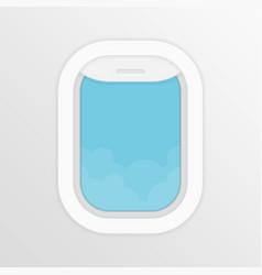 Aircraft window vector