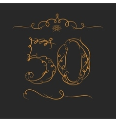 Anniversary 50th signs vector